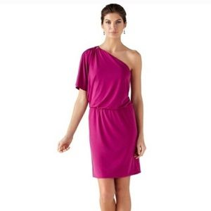 < WHBM > one shoulder dress